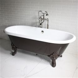 The Cardigan73 73 Cast Iron Double Ended Clawfoot Tub Package