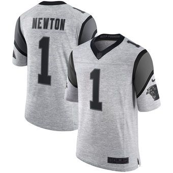 quality design 2ddc0 ff3cf Cam Newton Carolina Panthers Nike Gridiron Gray II Limited ...