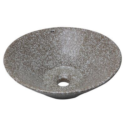 Ucore Round Ceramic Circular Vessel Bathroom Sink With Overflow Sink Glass Sink Ceramics