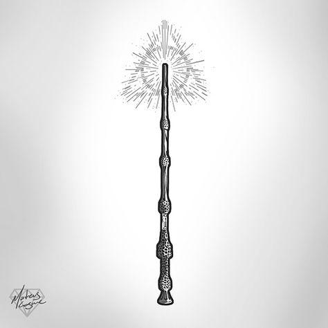 Elder Wand tattoo design on Behance