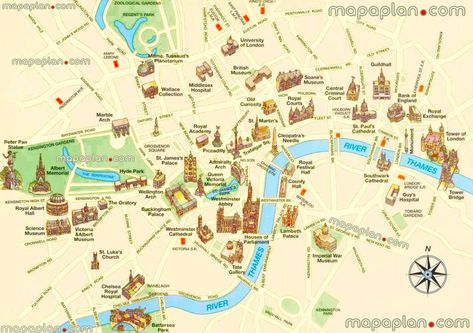 High Resolution London Tourist Map.London Top Tourist Attractions Map 01 Must See Historical