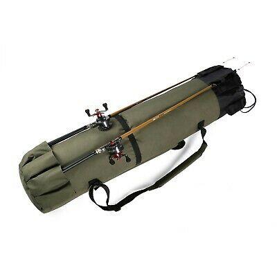 Portable Fishing Rod Bag Storage Pole Rod Carry Case Carrier Travel Organizer
