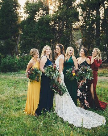 28 Reasons To Love The Mismatched Bridesmaids Dress Look Summer Bridesmaid Dresses Floral Bridesmaid Dresses Mismatched Bridesmaid Dresses