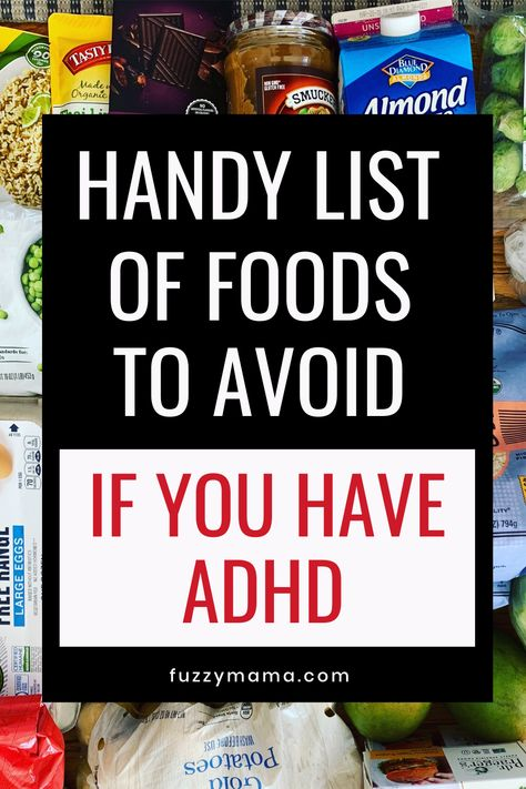 Foods for ADHD