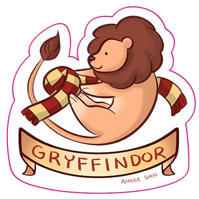 Gryffindor Sticker Gryffindor Harry Potter Illustrations Hogwarts Crest