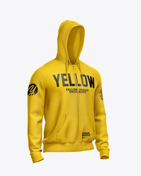 Download Men S Full Zip Hoodie Mockup Half Side View In Apparel Mockups On Yellow Images Object Mockups Hoodie Mockup Clothing Mockup Hoodies