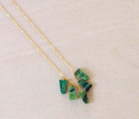 Yellow Turquoise Pyramides Necklace