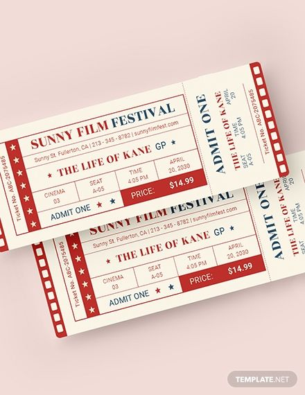 Classic Movie Ticket Template Word Doc Psd Apple Mac Pages Illustrator Publisher Movie Tickets Movie Ticket Template Ticket Template