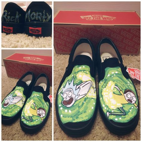 Rick and Morty shoes, pickle Rick