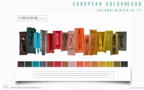 Fashion colourcard A/w 16-17