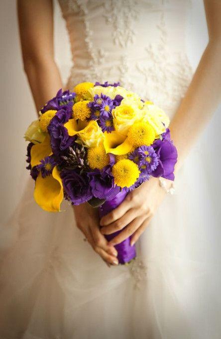 Best Flowers Yellow Purple Bridesmaid Bouquets 54 Ideas Flowers