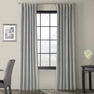 Exclusive Fabrics Furnishings Blackout Signature Silver Grey Blackout Velvet Curtain 50 In W X 96 In L 1 Panel Vpch 145002 96 The Home Depot In 2020 Velvet Curtains Grey Velvet Curtains Half Price Drapes