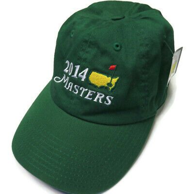 Details About New Masters 2014 Mens Green Golf Strapback Golfing Cap Dad Hat Nwt Augusta In 2020 Dad Hats Mens Green Mens Accessories