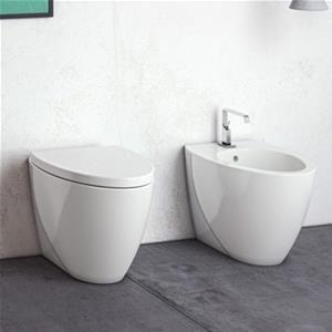 Vaso Singolo Wc Filomuro Design Bagno Moderno Con Copri Wc