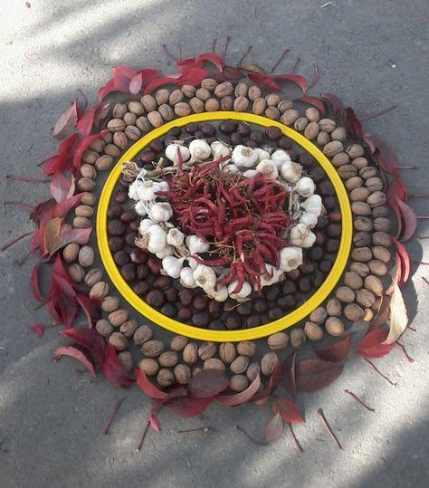 játékötlet gyerekeknek termésekből