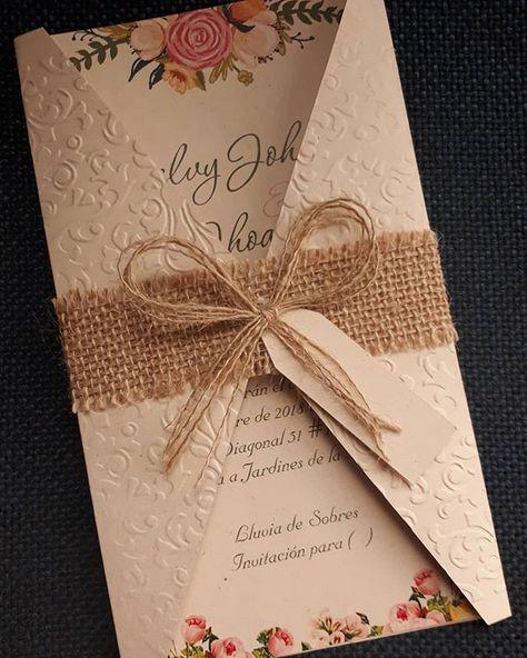 Tarjeta Invitación Matrimonio Boda Estilo Rustica Vintage