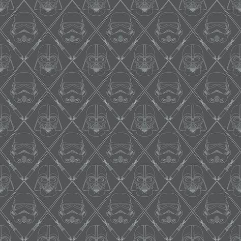 Star Wars The Dark Side Peel & Stick Wallpaper - Sample
