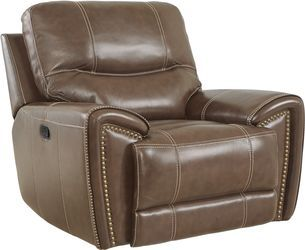Italo Brown Leather 5 Pc Living Room With Reclining Sofa Brown Leather Recliner Reclining Sofa Recliner