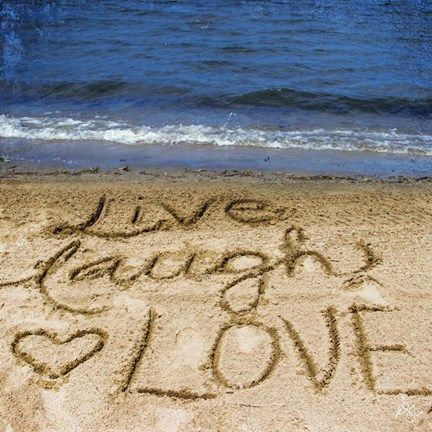 Live Laugh Love In The Sand By Kimberly Glover Beach Canvas Wall Art Love Wall Art Landscape Wall Art