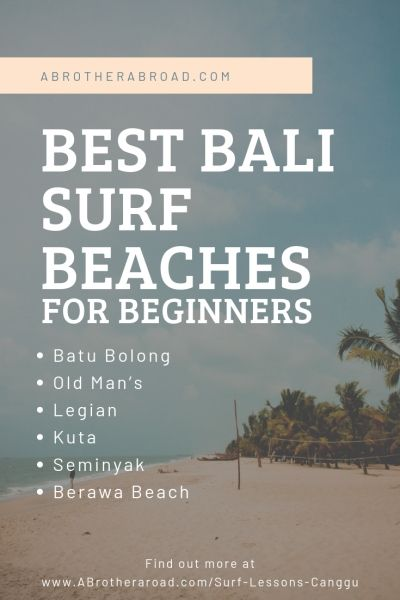 The 3 Best Options For Surf Lessons Canggu Bali A Brother Abroad Surf Lesson Surfing Bali Surf