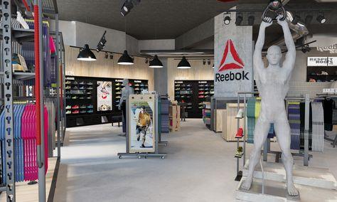 Interior Render Of The Reebok Flagship Store We Designed In La