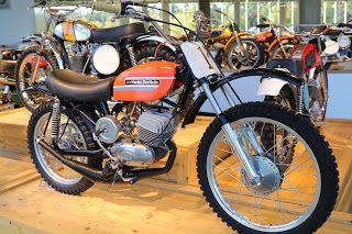 1974 Harley Davidson Aermacchi Sr100 Baja Mx On Display At The Barber Vintage Museum Birmingham Alabama Harley Harley Davidson Dirt Bikes