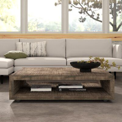 17 Stories Eamon Square Coffee Table With Casters In 2020 Square Coffee Tables Living Room Coffee Table Coffee Table Square