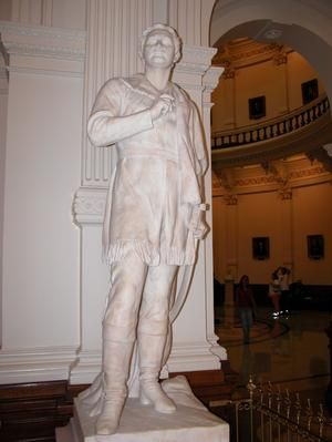 Sculpture of Sam Houston inside the Texas State Capitol. Sculpted by Dreanna L. Belden, May 5, 2005.