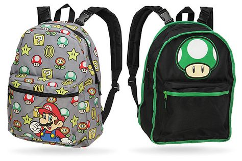 "Super Mario Comic 16/"" Backpack All-Over Print School Book Bag Koopa Yoshi NEW!!"