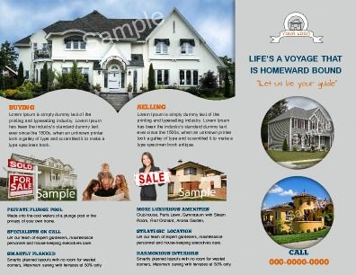 Tri-fold Real Estate Brochure (Inside design) is perfect for - sample real estate brochure