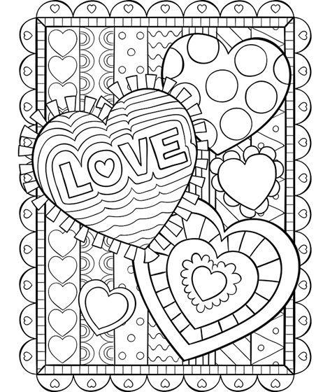 Valentine Hearts Coloring Page Crayola Com Valentine Coloring