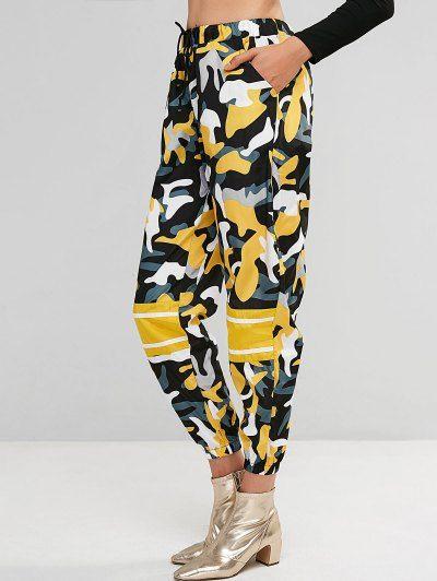 Pantalones De Camuflaje Con Cordon Rompevientos Basculador En 2020 Pantalones De Camuflaje Pantalones Mujer Vestidos Con Mangas