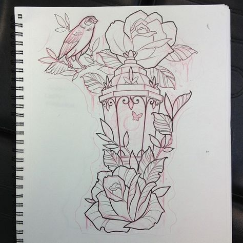 Filling in a spot on an arm above hour glass on right shoulder