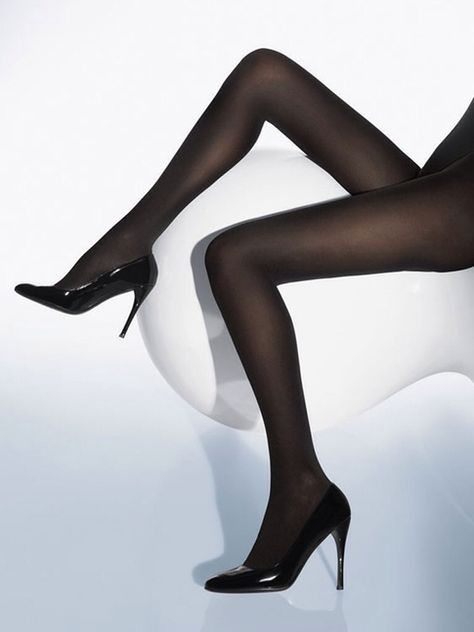 Black tights in sheer and opaque