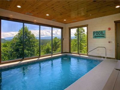 Vrbo Wisconsin Indoor Pool : Head to the lower level to find your private indoor pool.