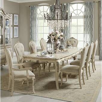 Astoria Grand Welliver Extendable Dining Table Wayfair French Country Dining Room Country Dining Rooms Dining Room Sets