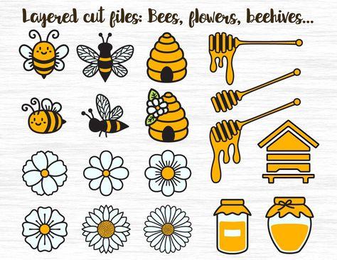 Bee SVG, Bee bundle, Honeycomb svg, Honey bee svg, Bee tumbler, Honey svg, Beehive svg, Bumblebee cut file, Honeybee cricut, Flowers clipart