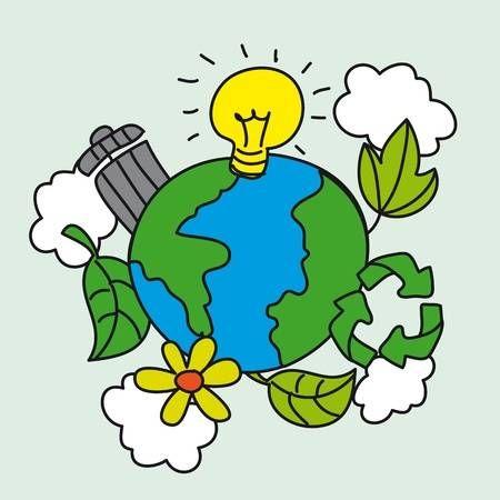 La Ecologia Lindo Con Dibujo A Mano Planeta Ilustracion Vectorial Medio Ambiente Dibujo Imagenes Del Medio Ambiente Afiches Del Medio Ambiente