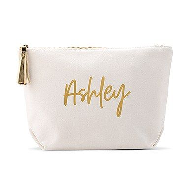 Personalized Canvas Makeup And Toiletry Bag For Women