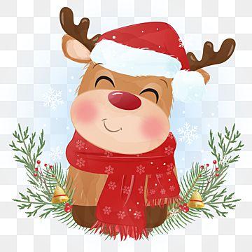 Lindo Reno Para Fondo De Navidad Y Tarjeta De Felicitacion Clipart De Renos Fiesta Antecedentes Png Y Vector Para Descargar Gratis Pngtree Watercolor Christmas Cards Happy Holidays Greetings Holiday Greeting Cards
