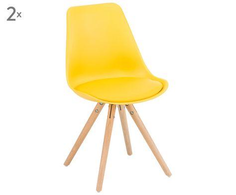 Ein Garant für langes und bequemes Sitzen: Das Polsterstühle-Set THORA setzt mit seiner ergonomisch geformten Lehne auf besten Sitzkomfort. Ob für Ihr Ess-, Arbeits- oder Schlafzimmer, die robusten Eichenholz-Stühle setzen moderne Akzente in Ihrem Interieur.