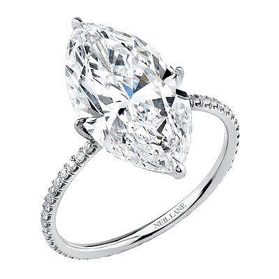 Neil Lane 5 carat  diamond in platinum micropave band  Steelasophical Ideas and Likes  www.steelband.co.uk