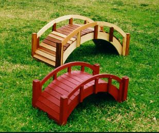 small garden bridges create pretended babbling brook or pond underneath with a gracefully japanese garden pinterest small gardens bridge and