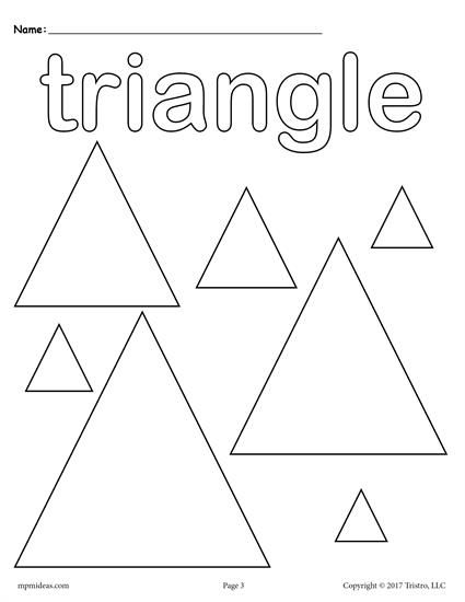 12 Shapes Coloring Pages Shape Worksheets For Preschool Shape Coloring Pages Triangle Worksheet