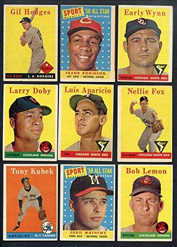 1958 Topps Baseball Part Set Lot 359 Diff Vgex Mantle A S Snider 366038 Kit Young Cards Check Out This Great Product Larry Doby Baseball Chicago White Sox