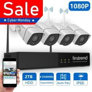 Firstrend 1080p Wireless Nvr Security Camera System Home Security Camera Systems Security Camera System Wireless Home Security Systems