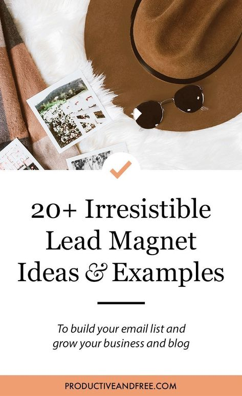 20+ Lead Magnet Ideas and Examples — Productive and Free