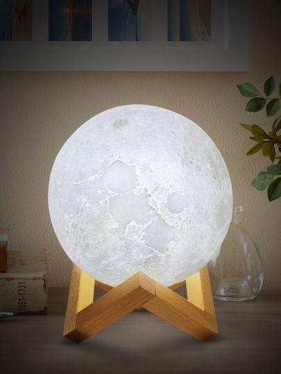 Moon Shaped Table Lamp 12v Shein Lampes De Table Lampe De Chevet Blanche Deco Maison Interieur