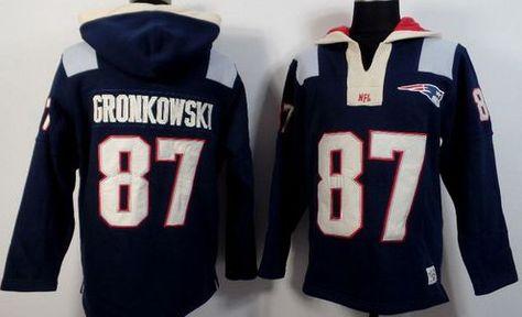 ede7c4de674 Rob Gronkowski Blue Sawyer Hooded Sweatshirt Hoodie