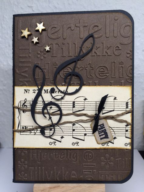 Musik Kort Musical Cards Music Greeting Cards Birthday Cards